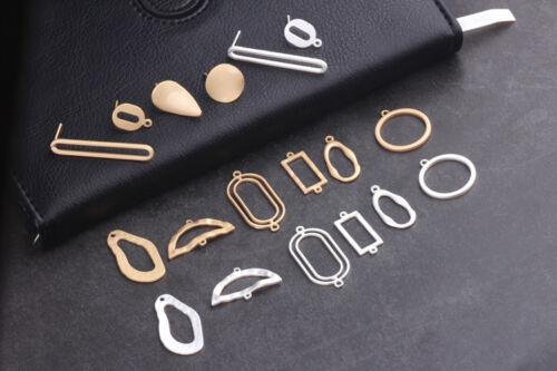 18pcs Géométrie Connecteur Alliage Charms Pendentif Bijoux Finding À faire soi-même Fit Bracelet