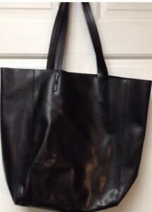 Banana Republic Ashbury Leather Tote XL Purse Shoulder Bag matching small bag