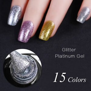 Platinum-Gel-Polish-Luxury-Bling-Color-Varnish-Gold-Silvery-Manicure-15colors