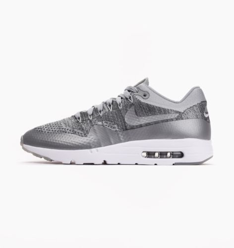 NIKE AIR TRAINERS MAX 1 ULTRA FLYKNIT TRAINERS AIR * GREY/WHITE * 843384 001 * 8b60cf