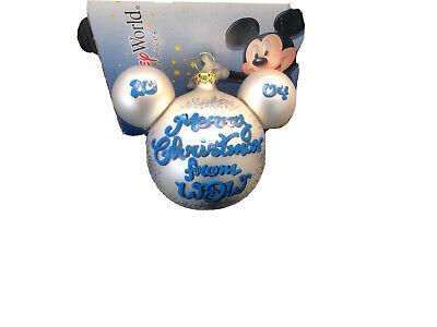 walt disney world christmas ornament 2004   eBay
