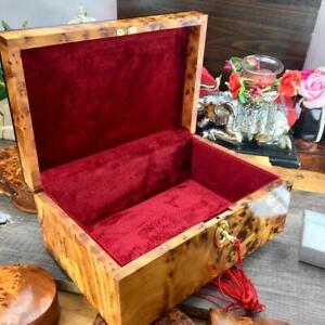 Luxury victorian style burl thuya wooden box, keepsake vintage style gift box