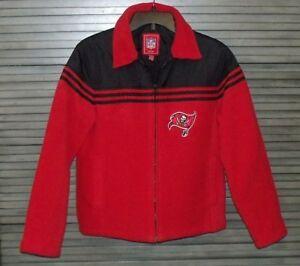 882f7c86 Details about Tampa Bay Buccaneers Women's Red Fleece NFL Jacket Coat -  Size S