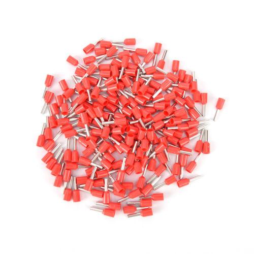 uxcell 1000 Pcs 16 AWG 1,5 mm2 Isolierte Kabelenden Drahthülsen AB