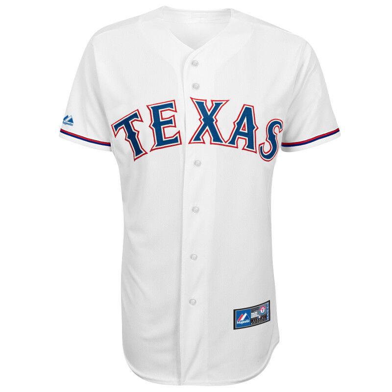 MLB Baseball Trikot Jersey TEXAS RANGERS Home Weiß Weiß Home von Majestic f73d0f