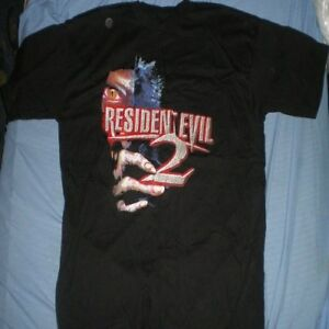 Resident-Evil-2-Vintage-1998-Playstation-ps1-Capcom-XL-Azul-Camiseta-De-Uva