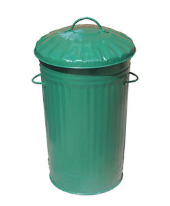 green kitchen bin 46l litre green galvanised metal bin slim kitchen rubbish 1386