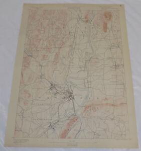 1890 Topo Map of NORTHAMPTON QUADRANGLE, WESTERN MACHUSETTS   eBay Map Of Western Machusetts on