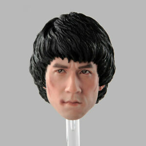 1//6 Young Jackie Chan Head Carved Male Head Sculpt HK Actor For 12/'/' Figure Body
