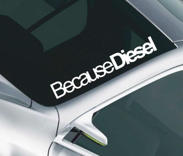 Dirty Diesel Car Windscreen Sticker 4x4 Off Road Truck DUB Funny Vinyl Decal