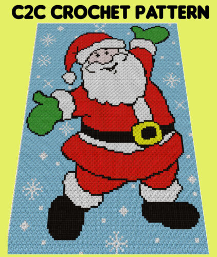 C2C Graphghan Crochet Pattern Santa In The Snow