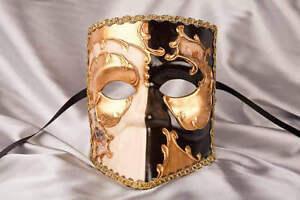 Bauta-maschera-di-caratteri-double-con-scene-di-Venezia