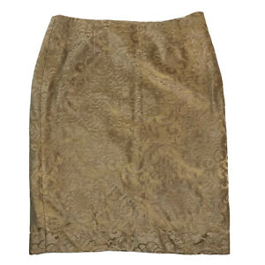 escada gold filigree tapestry women's pencil straight Skirt Women's Size S (38)