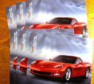 2005-Chevy-Corvette-Intro-Sheet-Brochure-LOT-6-pcs-C6-LS2