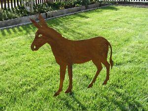 Edelrost-Esel-Tiere-Rost-Esel-Rost-Deko-Metall-Rost-Tiere-Weihnachtsdeko