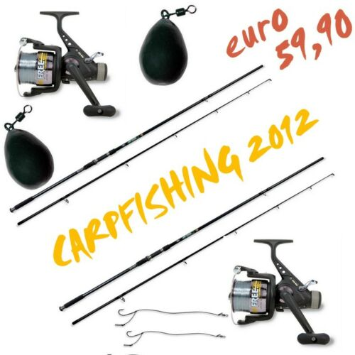 Kit Carpfishing 2 Canne 2 Mulinelli PB2252
