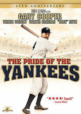 The Pride of the Yankees (DVD, 2007, 65th Anniversary Edition) NEW w/ Slipcover