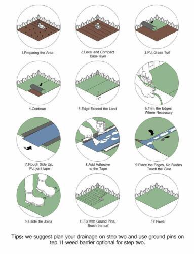 GOLDEN MOON Artificial Grass Mat 5-Tone Mowed-Lawn Touch Outdoor Green 3/'x 8/'