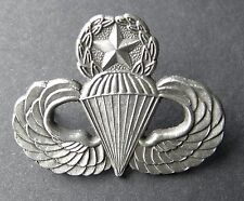 PARATROOPER PARA MASTER JUMP WINGS LAPEL PIN BADGE 1.3 INCHES US ARMY