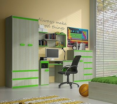 Furniture sets for Kids Childrens room Desk, Shelves, Wardrobe Sideboard Bed