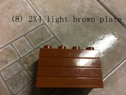 lego duplo 2X4 2X6 2X8 flat plate green gray white tan lime blue red brown thin