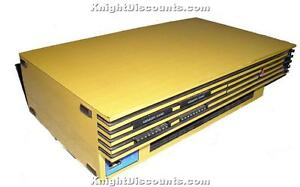 PS2-amp-Playstation-2-SLIM-GOLD-Skin-Case-Mod-Sticker-NEW