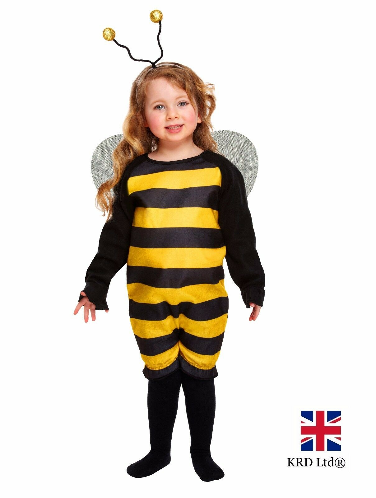 CUTE BUMBLE BEE TODDLER Fancy Dress Costume Kids Girls Halloween Animal 2-3Y UK