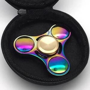 Finger-Hand-Spinner-Fidget-Focus-Metal-Steel-Bearing-Stress-Rainbow-Fidget-UK