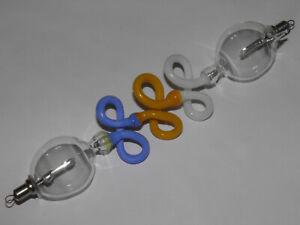 Gala-Tube-Tube-Coloured-Glass-Blue-Yellow-White-18-cm-Lutz-Neumann