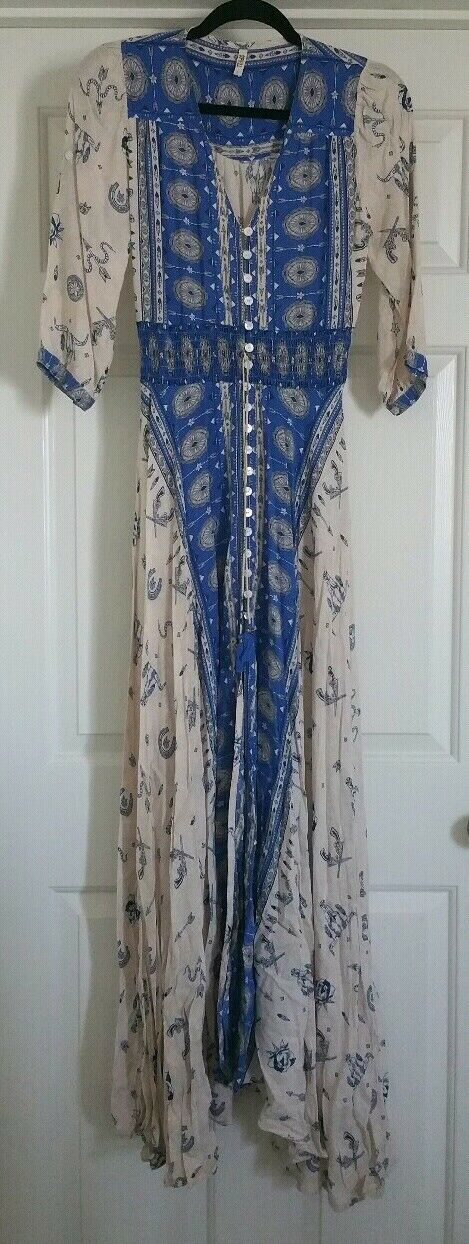 Vintage Rare Spell & the Gypsy Collective Designs Sample Coyote Gown Sz S