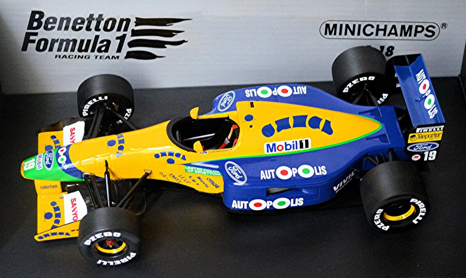 Benetton ford b191 fórmula 1 1991  19 m. schumacher 1 18 Minichamps 100910119