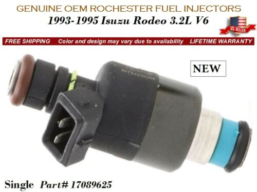 1 NEW Fuel Injector OEM Rochester for 1993-1995 Isuzu Rodeo 3.2L V6 #17089625