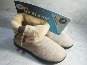 65f0d128d57 Details about LADIES 7.5-9 ISOTONER WOODLANDS~FAUX-FUR BOOT  SLIPPERS~BOOTIES~color Ivory ~NWT
