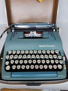 1955 Smith Corona Silent-Super Typewriter w/case, tag and key.  WOW