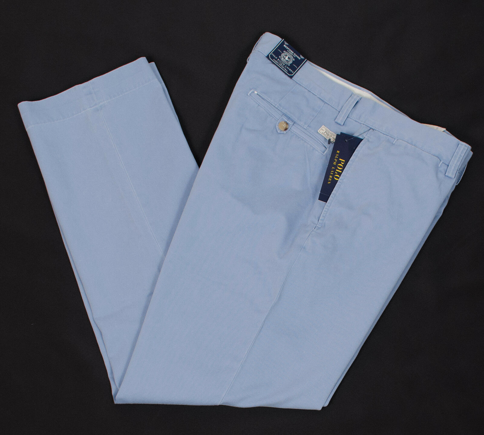 POLO RALPH LAUREN BEDFORD MEN'S CLASSIC FIT FLAT FRONT blueE PANTS MUTISIZE