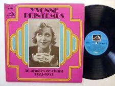 YVONNE PRINTEMPS 30 annees de chant 1923-1953 LP France Chanson  #671