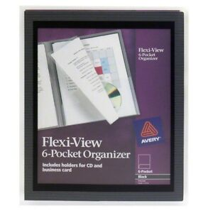 Avery Flexi-View Six-Pocket Organizer 47699 (Pack of 3)