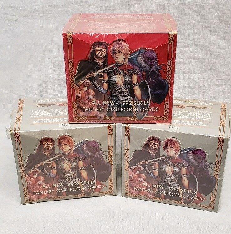 3 Cajas Selladas avanzada Dungeon & Dragons Serie 1992 tarjetas de coleccionista de fantasía
