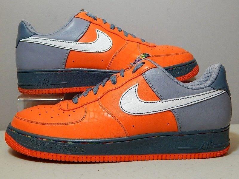 Nike Shoes - 2007 Air Force 1 AF1 Low Premium XXV Choz Bronx - Orange - Size 14