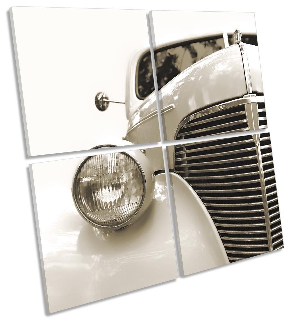 VINTAGE CON AUTO foto art. a muro Multi quadrato quadrato quadrato 52abef