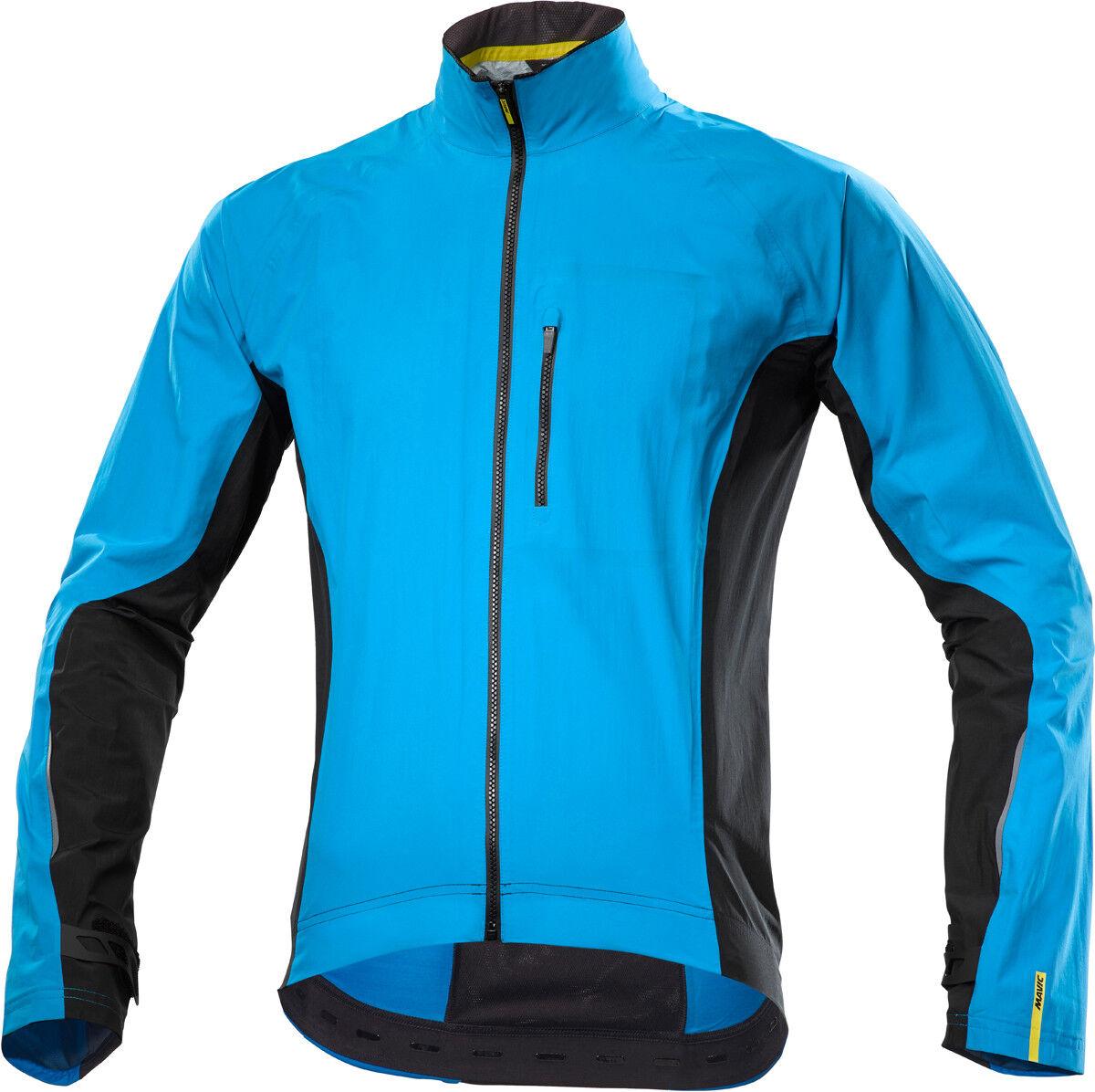 Mavic Cosmic elite h2o bicicleta chaqueta lluvia azul negro 2017
