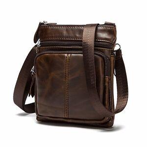 Casual Hot Men Vintage Cow Leather Crossbody Bags Handbag Shoulder ... faa114f2052db