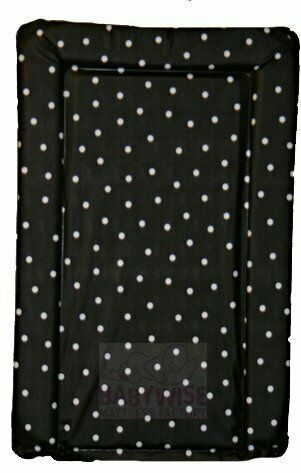 BLACK WITH WHITE SPOT SUPER SOFT PADDED WATERPROOF BABY CHANGING MAT