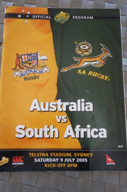 2005 RUGBY UNION PROGRAMME + MATCH TICKET AUSTRALIA SOUTH AFRICA