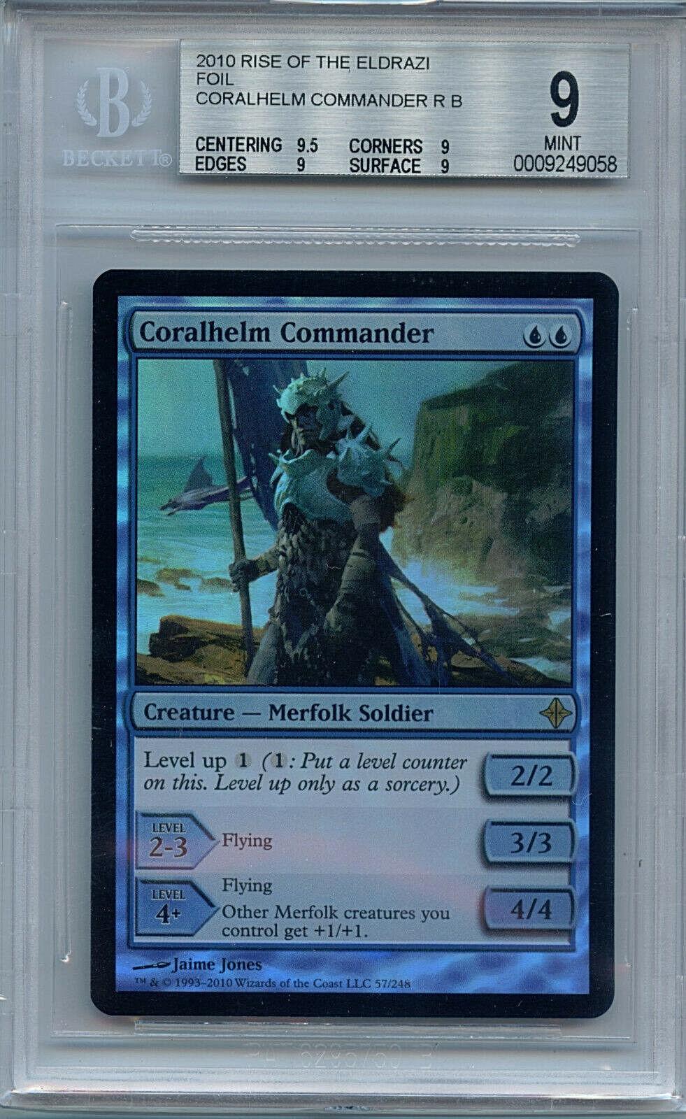 MTG Coral Helm Commander BGS 9 Mint Rise o t Eldrazi Foil Magic card Amricons 58
