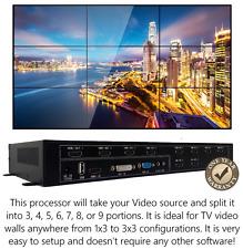 3x3 TV Video Wall Processor HDMI Matrix Security Controller Splicer Splitter 1x9