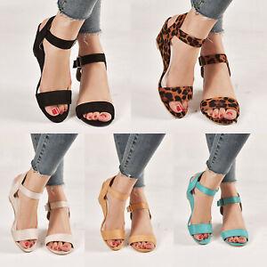 US-Women-Wedge-Heel-Sandals-Buckle-Ankle-Strap-Peep-Toe-Summer-Casual-Party-Shoe