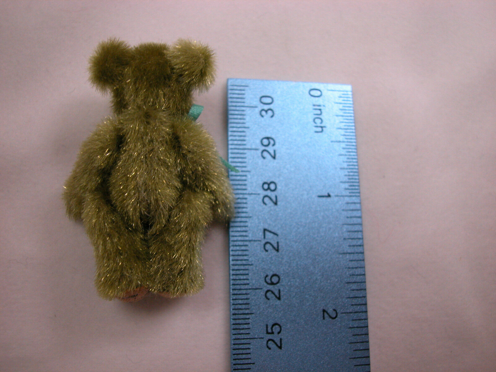 "World Of Miniature Bears Dollhouse Miniature 1.5/"" Plush Bear #257 Avocado"