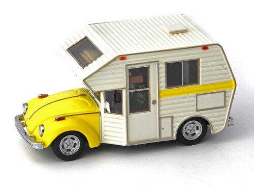 VW Käfer Minihome Motorhome Camper Caravan Campingbus 1977 giallo 1 43 AutoCult