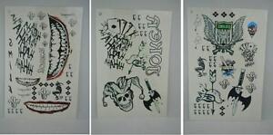 DC Batman Suicide Squad the Joker Full Body Temporary Tattoo Stickers Waterproof